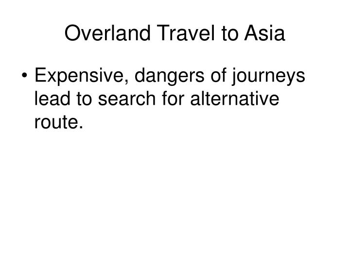 Overland Travel to Asia