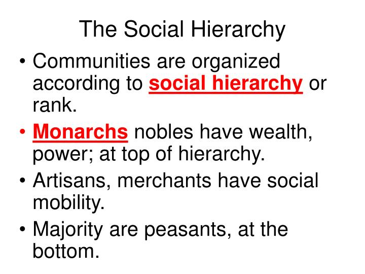 The social hierarchy