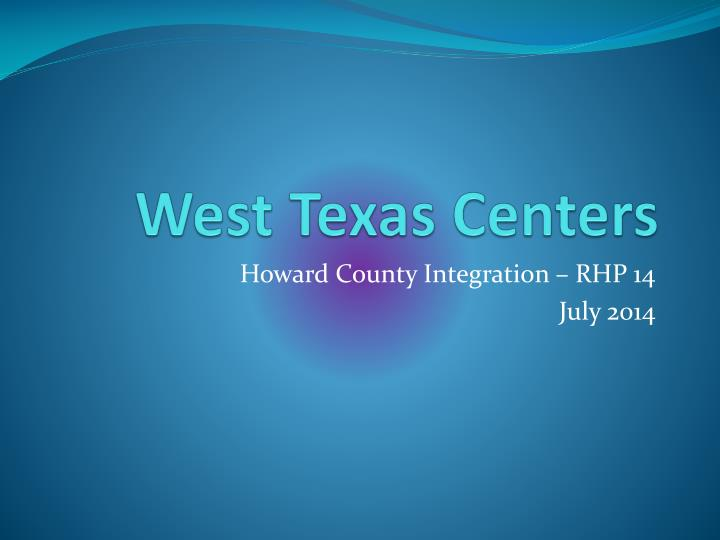 west texas centers n.