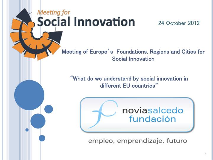 meeting of europe s foundations regions and cities for social innovation n.