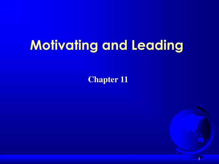 motivating and leading n.