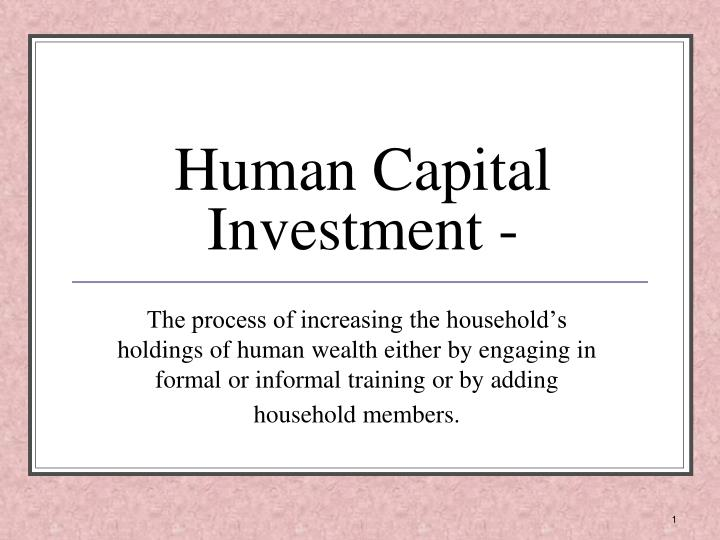 what are examples of human capital