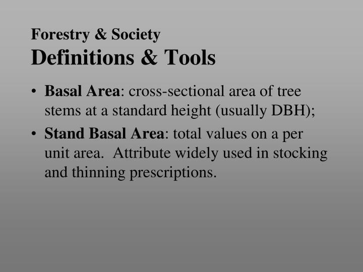 Forestry & Society