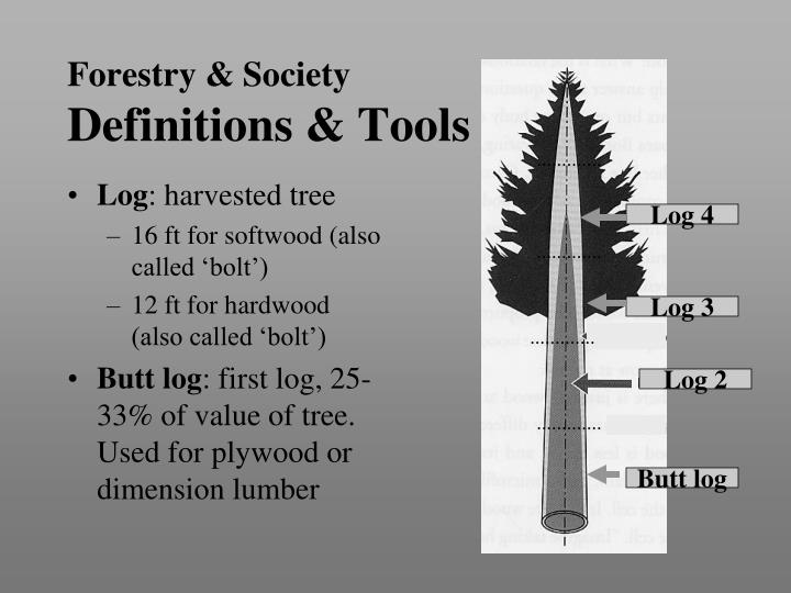 Forestry society definitions tools2