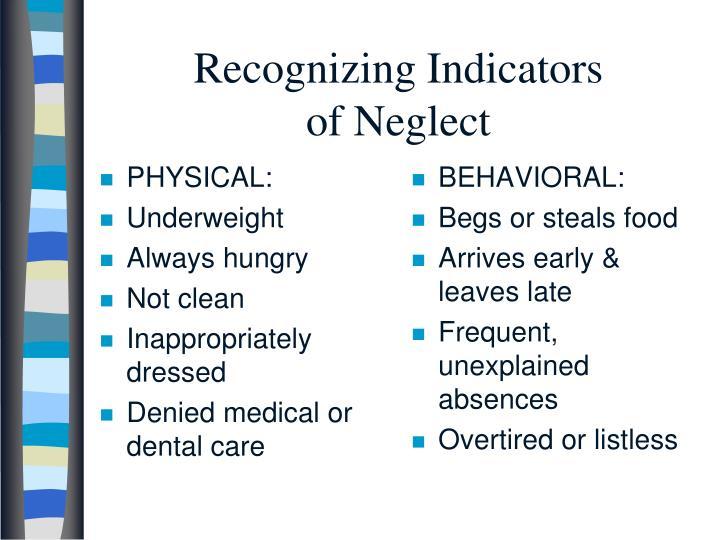 Recognizing Indicators