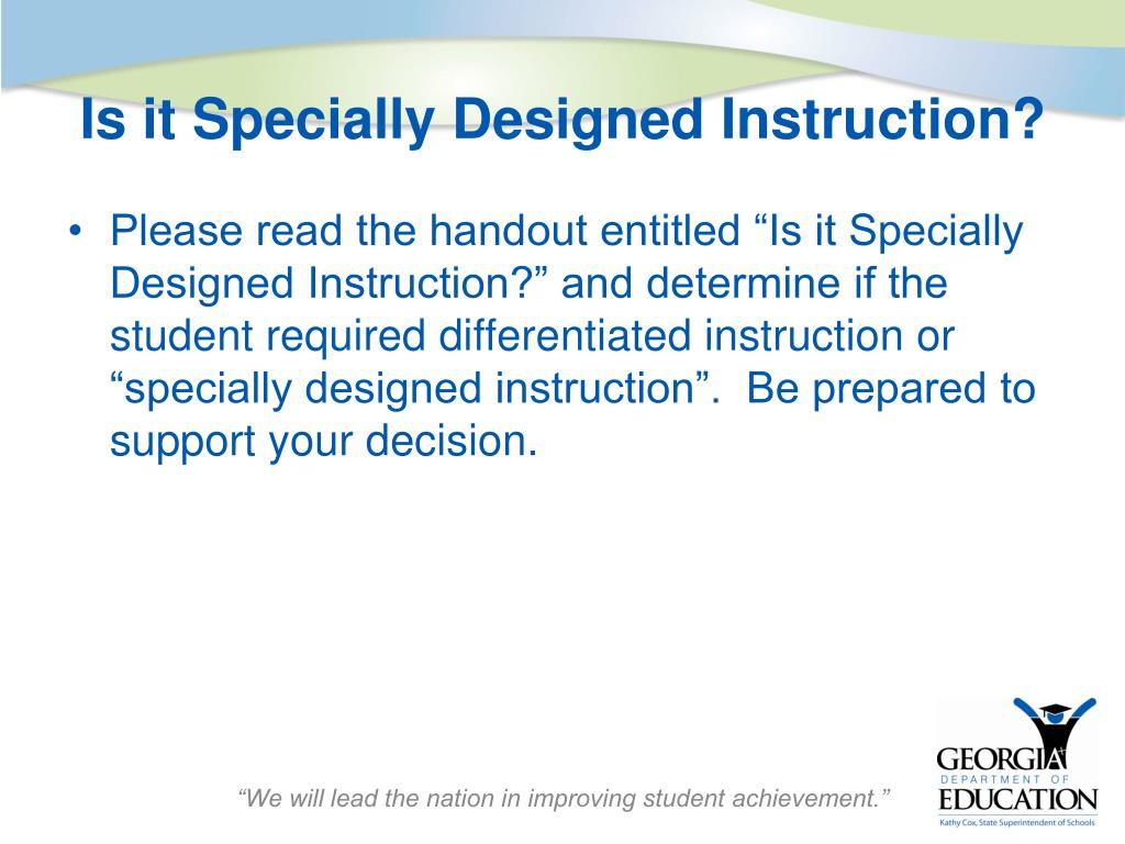 Ppt Implementing Specialized Instruction In The Standards Based Classroom Powerpoint Presentation Id 5829628