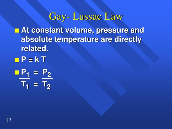 Gay- Lussac Law