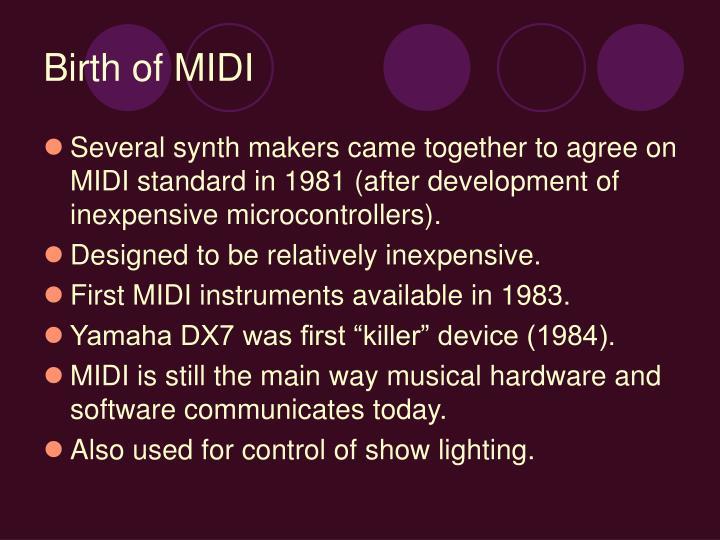 Birth of MIDI