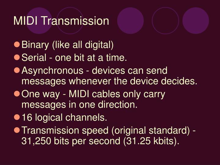 MIDI Transmission