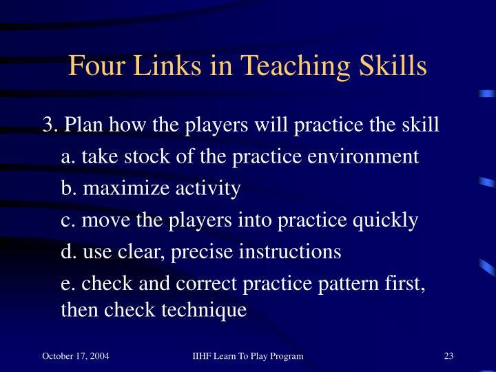 Four Links in Teaching Skills
