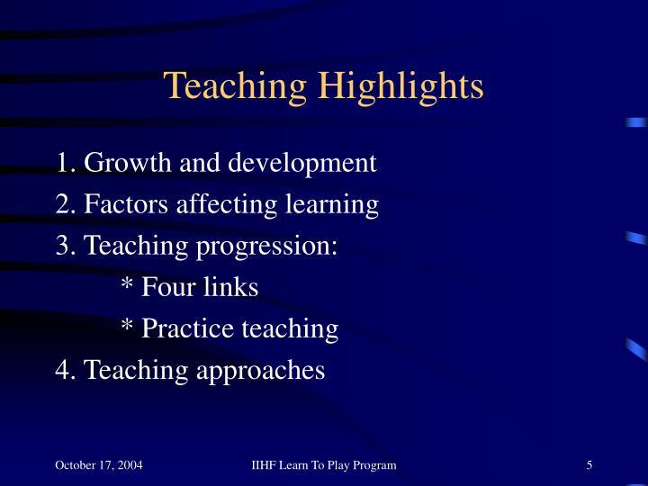 Teaching Highlights