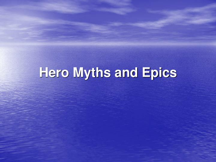 hero myths and epics n.