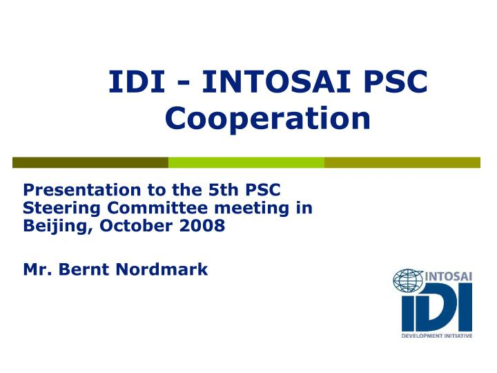 idi intosai psc cooperation n.