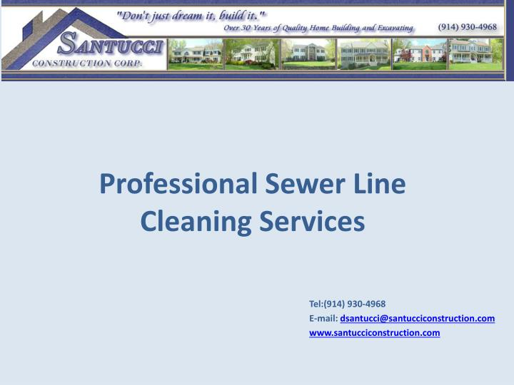 professional sewer line cleaning services n.