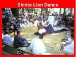 shinto lion dance