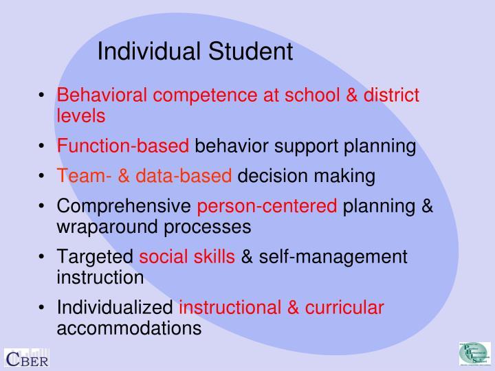 Individual Student
