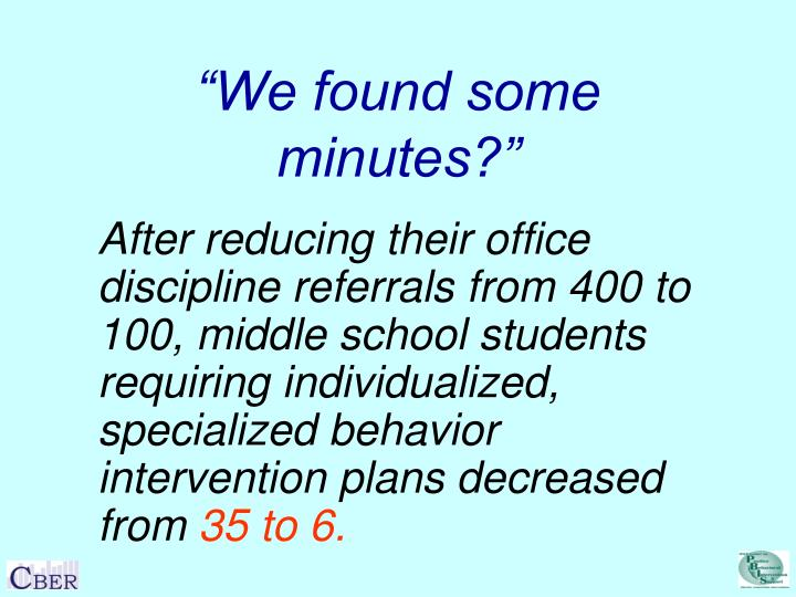 """""""We found some minutes?"""""""