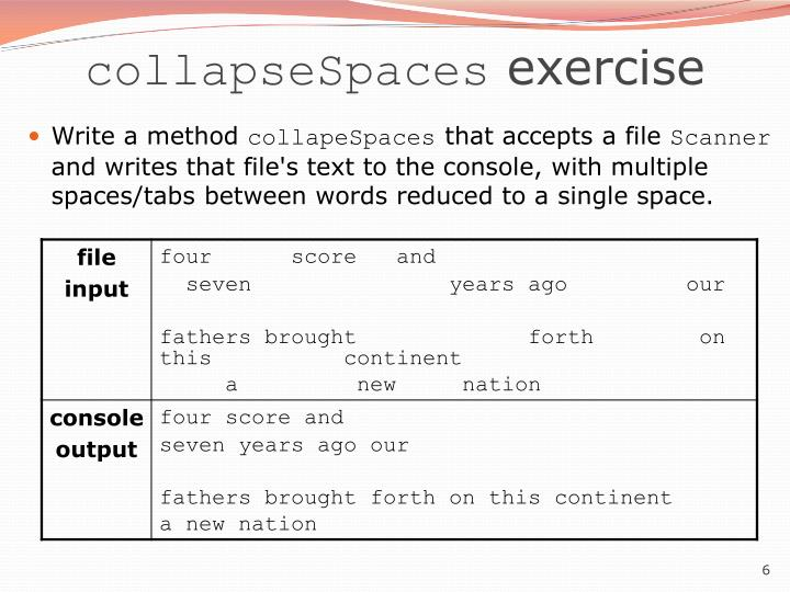 collapseSpaces