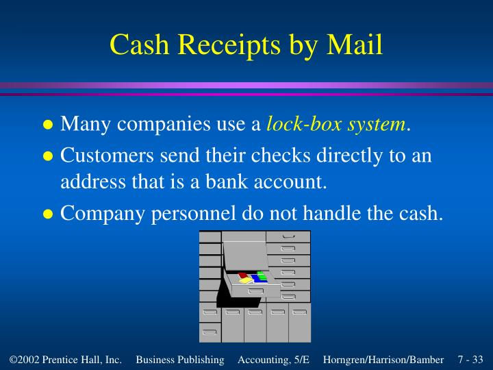 Cash Receipts by Mail