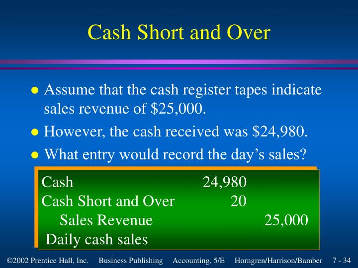 Cash Short and Over