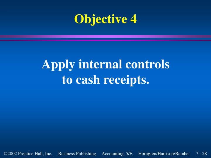 Apply internal controls