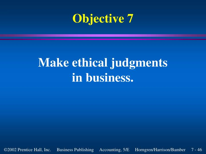 Make ethical judgments