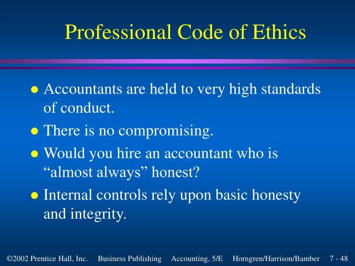 Professional Code of Ethics
