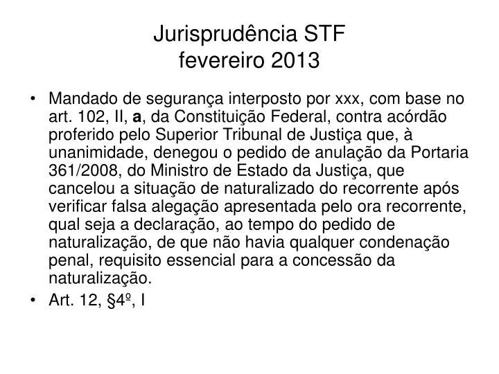 Jurisprudência STF