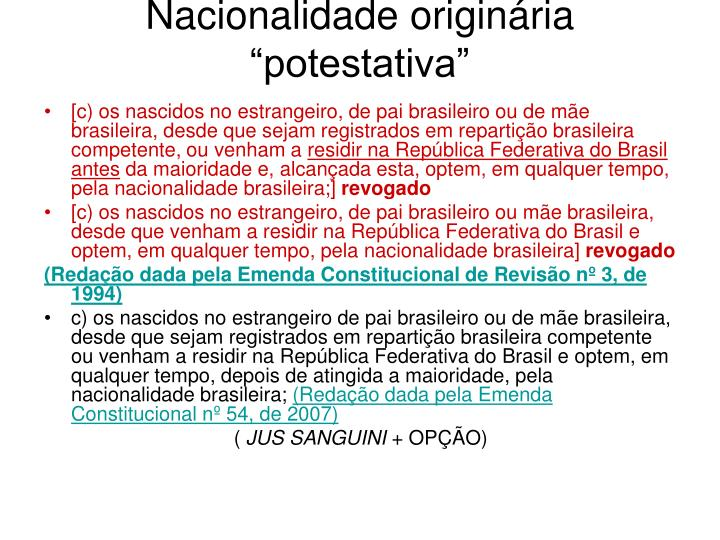 Nacionalidade originária