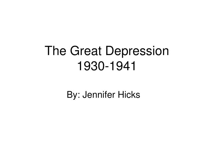the great depression 1930 1941 n.