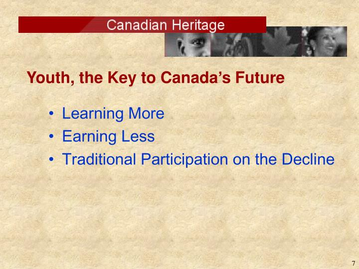 Youth, the Key to Canada's Future