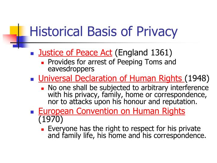 Historical Basis of Privacy