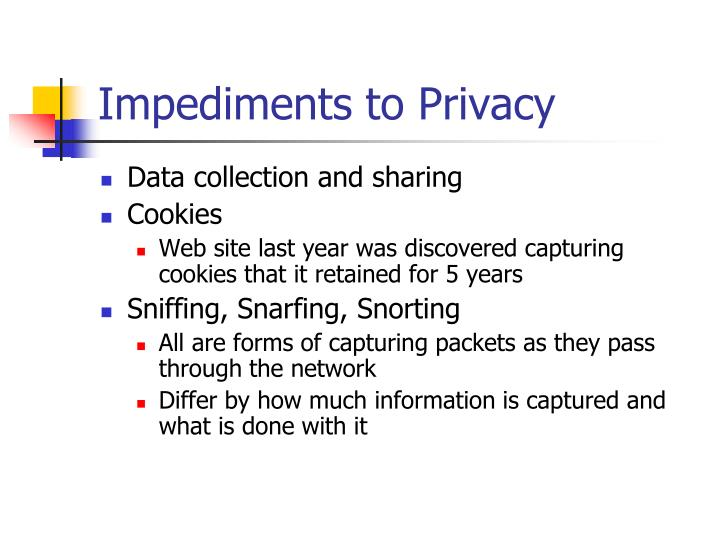 Impediments to Privacy