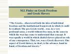 m i finley on greek freedom and greek slavery