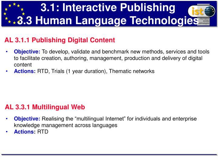 3.1: Interactive Publishing