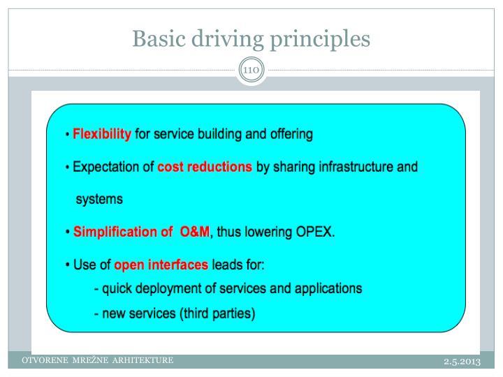 Basic driving principles