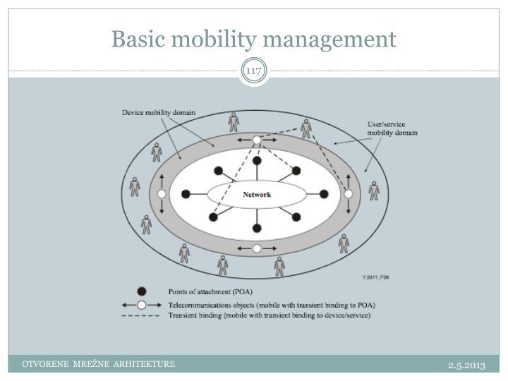 Basic mobility management