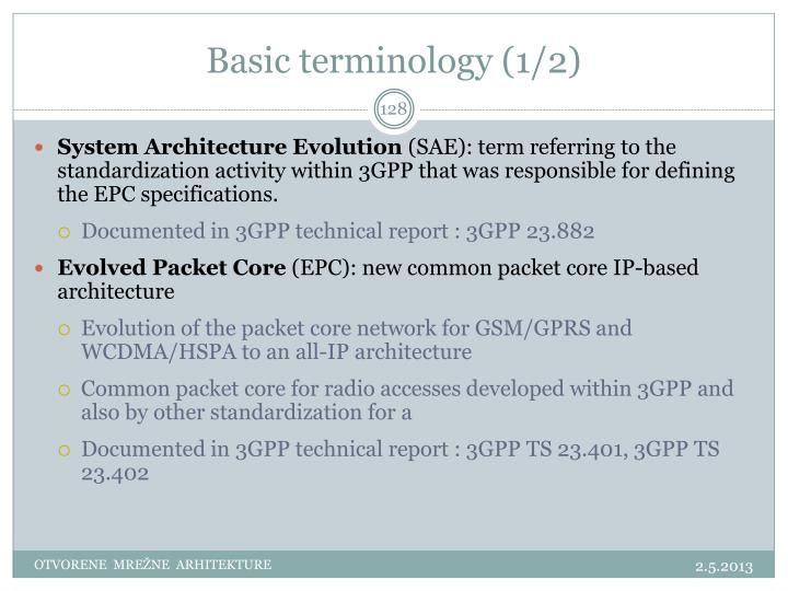 Basic terminology (1/2)