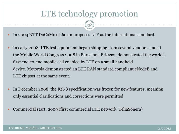 LTE technology promotion
