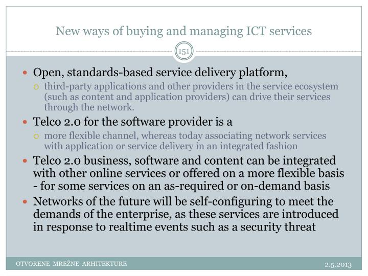 New ways of buying and managing ICT services