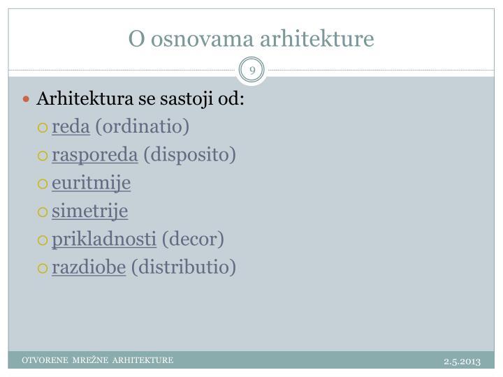 O osnovama arhitekture