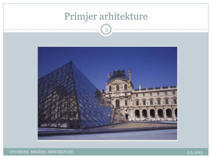 Primjer arhitekture