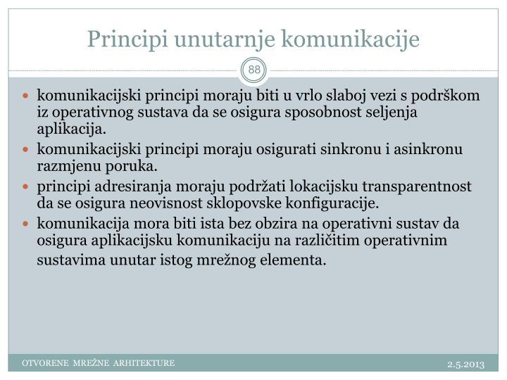 Principi unutarnje komunikacije