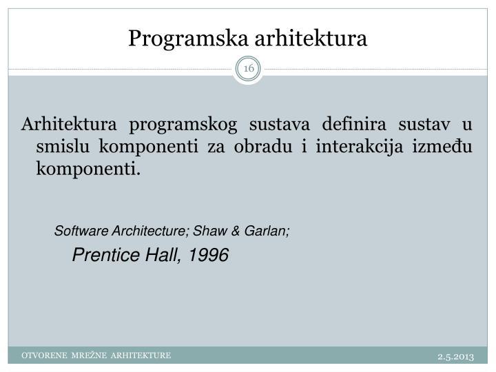 Programska arhitektura