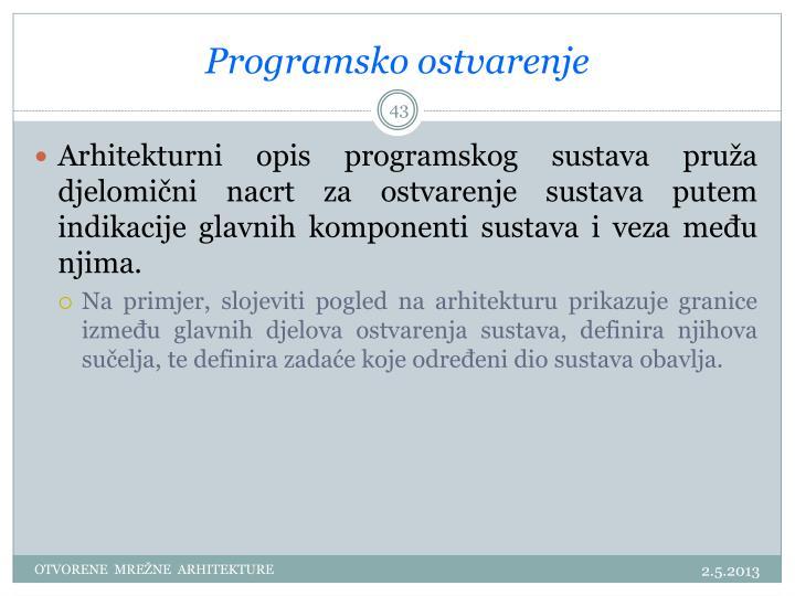 Programsko ostvarenje