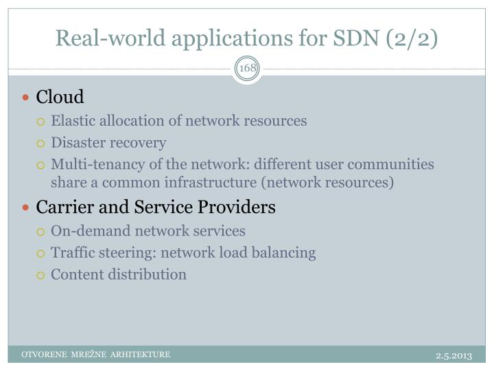 Real-world applications for SDN (2/2)