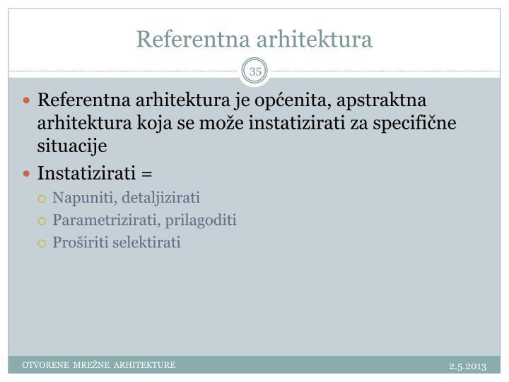 Referentna arhitektura