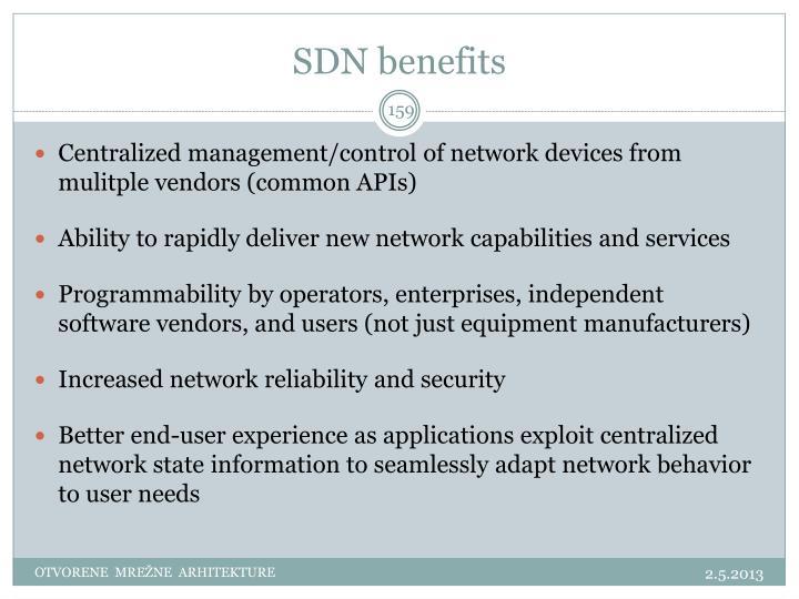SDN benefits