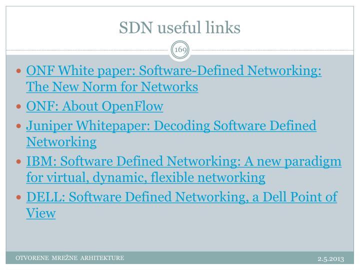 SDN useful links