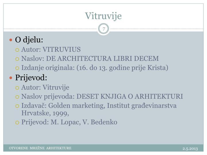 Vitruvije